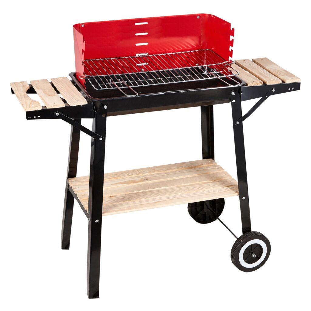 Barbecue Rettangolare Saetta con ripiani in legno