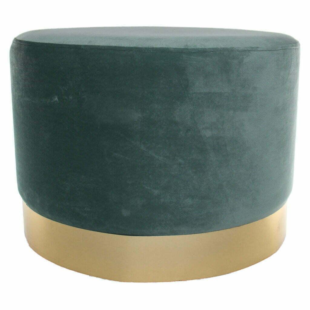 AD Trend Pouf Trent 48 x 35 cm colore verde
