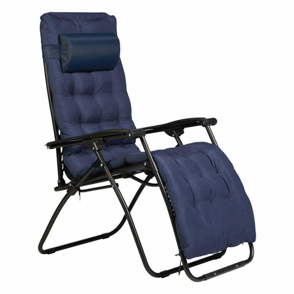 Enrico Coveri Sdraio relax con cuscino colore blu